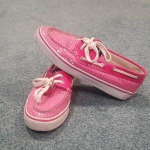 Pink Sequin Sperry's